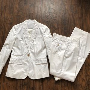 White summer suit jacket from JCrew - Sz 4